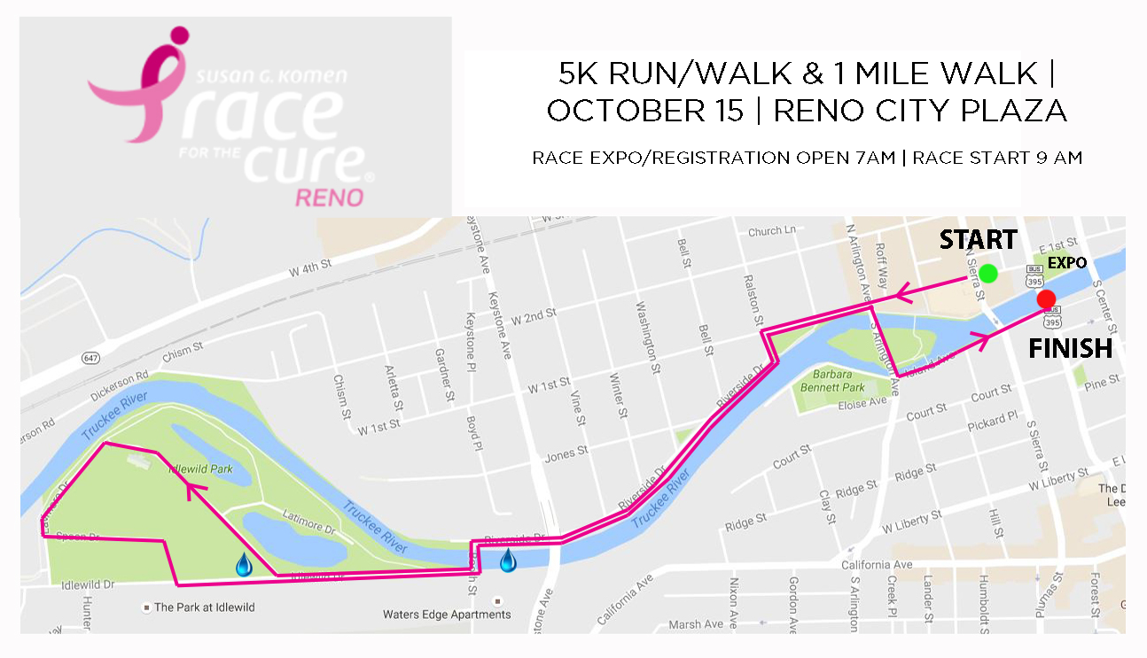2017 Reno Race for the Cure map